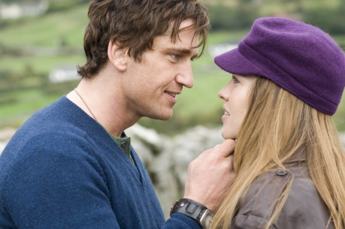 "Gerard Butler and Hilary Swank in ""P.S. I Love You."""