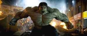 The Hulk flexes for his latest big screen appearance.