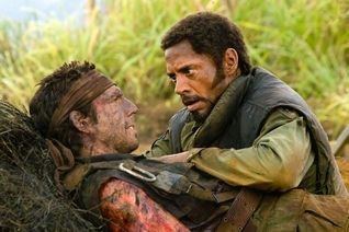 "Ben Stiller, left, and Robert Downey Jr. in ""Tropic Thunder."""