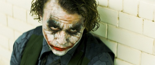 "Heath Ledger stars as The Joker in ""The Dark Knight."""