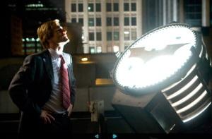 "Aaron Eckhart in ""the Dark Knight."""