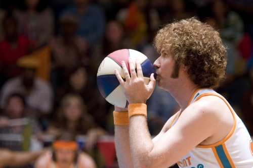"Will Ferrell lines up a shot in ""Semi-Pro."""
