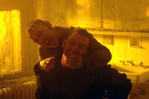 """Doug Hutchison, rear, and Ray Stevenson in a scene from """"Punisher: War Zone."""""""