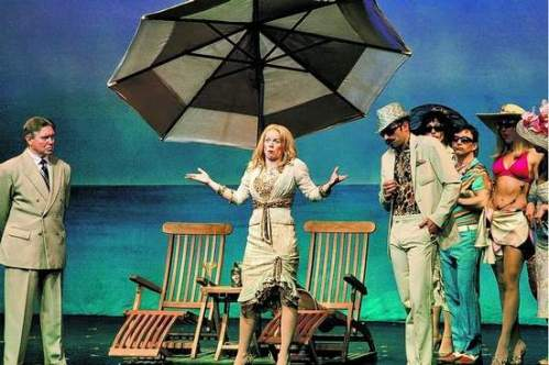 "A scene from ""Dirty Rotten Scoundrels."""