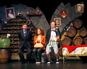 "Left to right, Brian McKay, Christy Adamson and Stephen Patterson in a scene from ""Dirty Rotten Scoundrels."""
