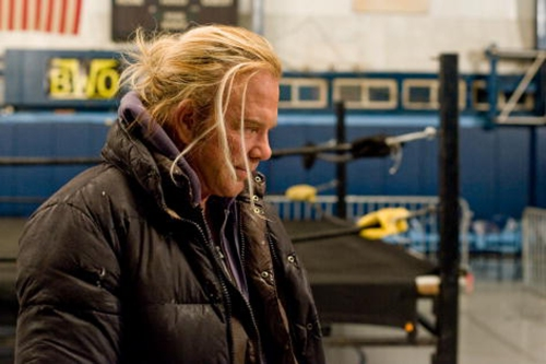 """Mickey Rourke was nominated for a best actor Oscar for his starring role in """"The Wrestler."""""""