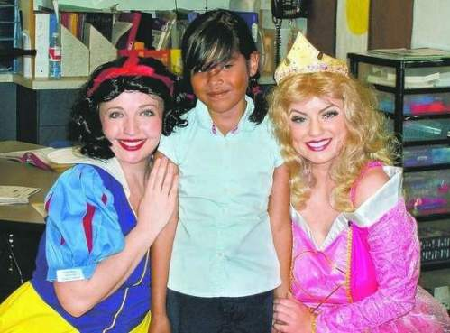 Kelly Bevel, left, Gabrielle Tostado and Therese Curatolo were at a recent princess party in Kings Beach.