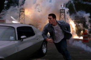 "John Cena plays New Orleans police officer Danny Fisher in the thriller ""12 Rounds."""