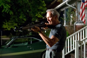 "Clint Eastwood doesn't always play nice in the drama ""Gran Torino."" He directed the film, and he also stars in it."