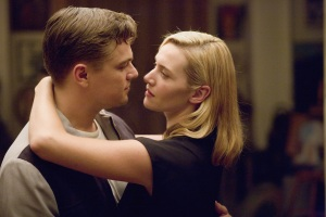 "Leonardo DiCaprio, left, and Kate Winslet play Frank and April Wheeler in the drama ""Revolutionary Road."""