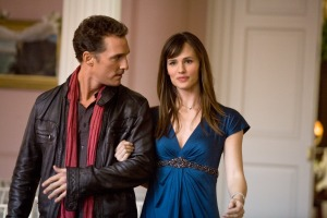 "Matthew McConaughey and Jennifer Garner star in the romantic comedy ""Ghosts of Girlfriends Past."""