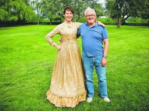 """Darwin's Darkest Hour"" star Frances O'Connor with Reno-based producer Norman Stephens."