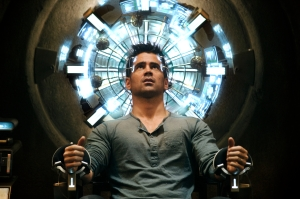 "In ""Total Recall,"" Colin Farrell plays Douglas Quaid, a seemingly average guy who finds himself in a secret agent adventure."