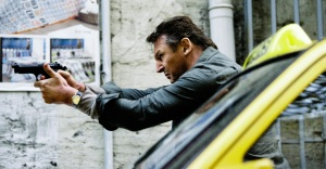 "Liam Neeson reprises the role of former CIA agent Bryan Mills in the action thriller ""Taken 2."""