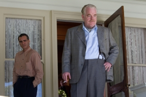 "Joaquin Phoenix, left, and Philip Seymour Hoffman star in ""The Master,"" the latest film from director Paul Thomas Anderson."