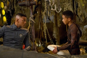 "Will Smith, left, and his son, Jaden, star in Columbia Pictures' ""After Earth."""