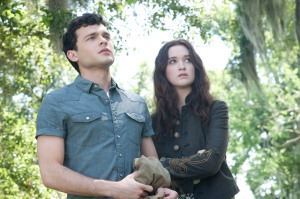 "Alden Ehrenreich, left, and Alice Englert play star-crossed lovers in ""Beautiful Creatures."""