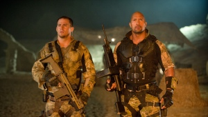 "Channing Tatum, left, and Dwayne Johnson play American soldiers in the action film ""G.I. Joe: Retaliation."""