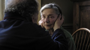 "Jean-Louis Trintignant, front, and Emmanuelle Riva star in ""Amour."" The drama was nominated for five awards and won best foreign language film at the most recent Oscar ceremony."