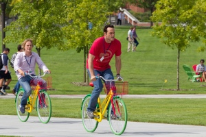 """In """"The Internship,"""" Owen Wilson, left, and Vince Vaughn play middle-aged guys gunning for a job at Google."""