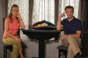 "Jennifer Aniston, left, and Jason Sudeikis star in the comedy ""We're the Millers."""