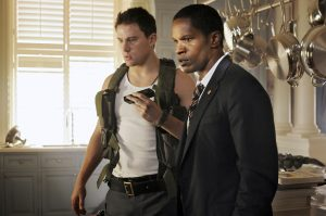 "Channing Tatum, left, and Jamie Foxx star in the action-adventure film ""White House Down."""