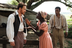 "From left, Michael Fassbender, Lupita Nyong'o and Chiwetel Ejiofor star in ""12 Years a Slave."" The movie received five awards, including Best Picture, from the Las Vegas Film Critics Society."