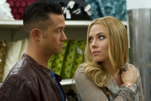 "Joseph Gordon-Levitt, left, and Scarlett Johansson in a scene from ""Don Jon."" Gordon-Levitt was the primary creative force, writing, directing and starring in the film."