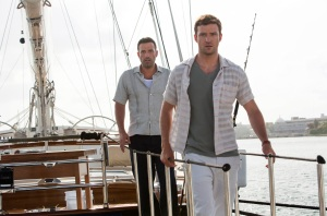 "Justin Timberlake, right, and Ben Affleck star in the thriller ""Runner Runner."""