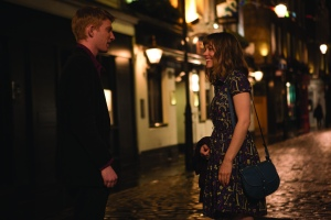 "Domhnall Gleeson, left, and Rachel McAdams star in the romantic drama ""About Time."""
