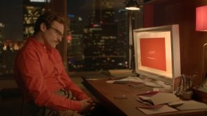 "Joaquin Phoenix falls in love with his computer operating system in ""Her."""