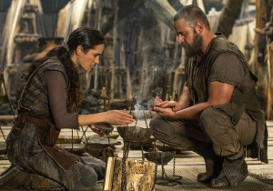 "Jennifer Connelly, left, portrays Naameh and Russell Crowe plays the title character in the Biblical epic ""Noah."""