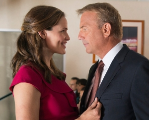 "Jennifer Garner, left, and Kevin Costner star in ""Draft Day,"" a drama about behind-the-scenes dealings during an NFL draft.  Photo courtesy of Lionsgate"