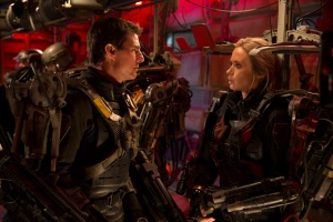 "Tom Cruise, left, and Emily Blunt fight to save Earth in the science-fiction thriller ""Edge of Tomorrow.""  Photo courtesy of Warner Brothers"
