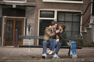 "Gus (Ansel Elgort), left, and Hazel (Shailene Woodley) make a connection in ""The Fault in Our Stars.""  Courtesy of 20th Century Fox"