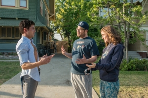 "Zac Efron, left, Seth Rogen, middle, and Rose Byrne star in ""Neighbors""  Photo courtesy of Universal Studios"