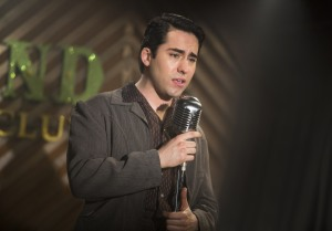 "John Lloyd Young plays crooner Frankie Valli in the Clint Eastwood musical ""Jersey Boys."""