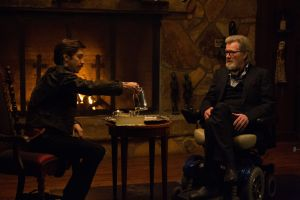 "From left, Justin Long and Michael Parks star in the Kevin Smith horror film ""Tusk."" Photo courtesy of Lionsgate"