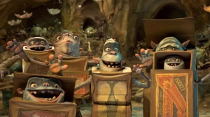 "The title characters from the stop-motion animated movie ""The Boxtrolls"" are sadly misunderstood.   Photo courtesy of Focus Features"