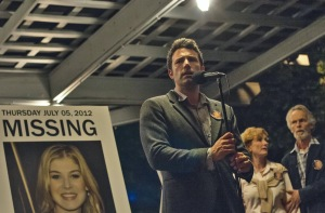 "Nick Dunne (Ben Affleck) becomes the chief suspect when his wife goes missing in the David Fincher thriller ""Gone Girl.""  Photo courtesy of 20th Century Fox"