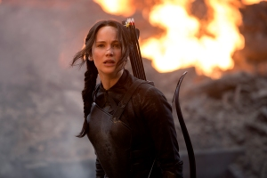 "Jennifer Lawrence again plays Katniss Everdeen in ""The Hunger Games: Mockingjay – Part 1.""  Photo courtesy of Lionsgate"