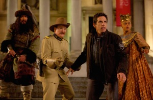 "From left, Patrick Gallagher, Robin Williams, Ben Stiller and Rami Malek star in ""Night at the Museum: Secret of the Tomb.""  Photo courtesy of 20th Century Fox"