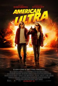 """Jesse Eisenberg and Kristen Stewart star in the action-comedy """"American Ultra.""""  Photo courtesy of EPK.tv"""